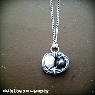 Bird Nest Necklace | White Lights on Wednesday