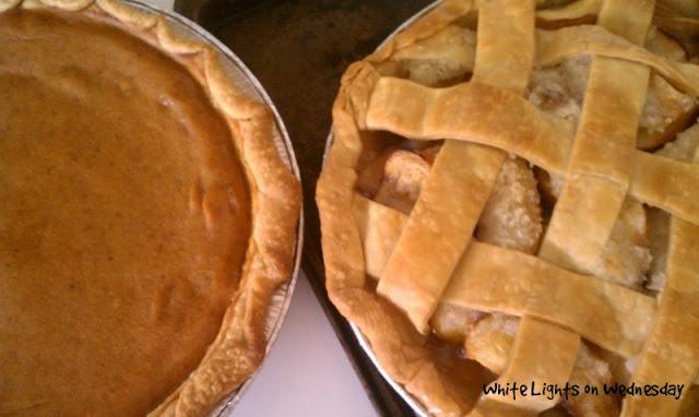 pumpkin and peach pies