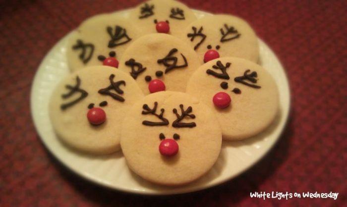 Rudolf Cookies White Lights On Wednesday