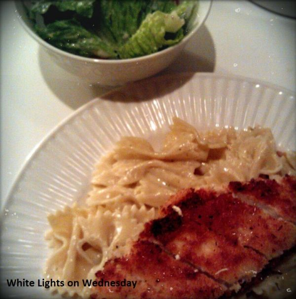 Crispy Chicken with Italian Cream Sauce