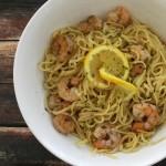 Roasted Shrimp with Lemon Pasta