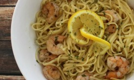 Roasted Shrimp with Lemon Pasta