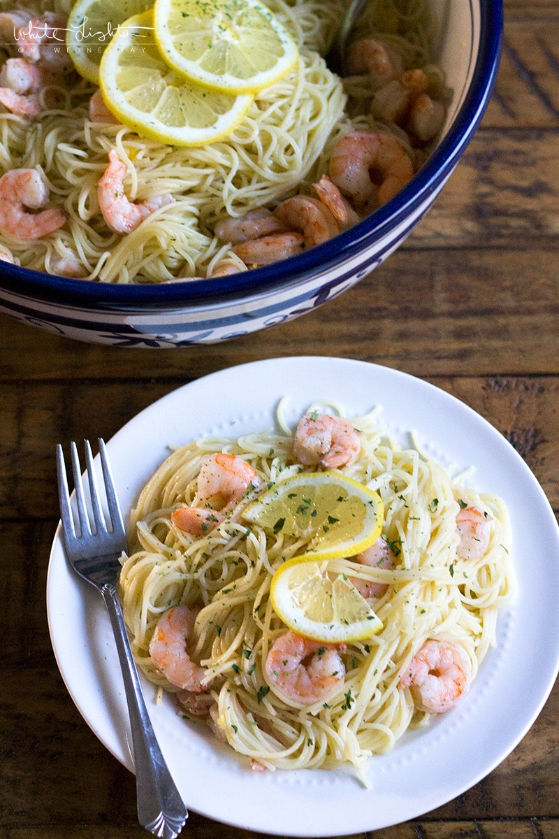 Roasted Shrimp & Lemon Pasta is a 20-minute dinner that'll knock your socks off and become a weeknight favorite!