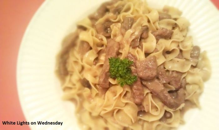 Beef Stroganoff White Lights On Wednesday