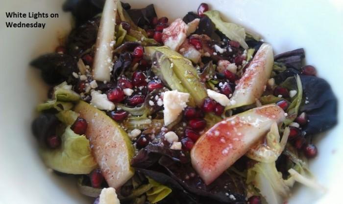 Pomegranate & Pear Salad