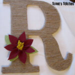 DIY Jute Wrapped Letter with Flower Accent