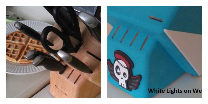 painted knife block b&a