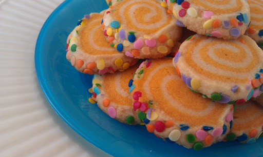 Colorful Spiraled Cookies