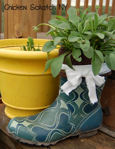 Upcycled Gardening Boots
