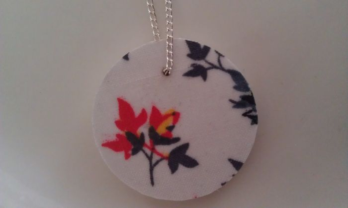 Fabric Pendant Necklace 12
