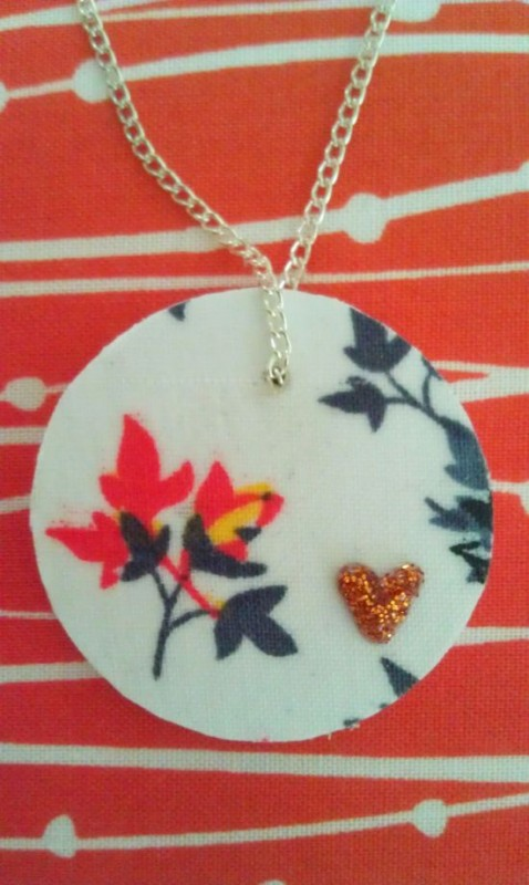 Fabric Pendant Necklace 15