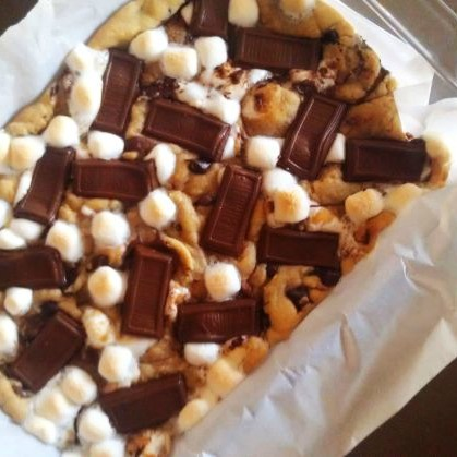 Cookie Dough Graham Cracker S'Mores Bars