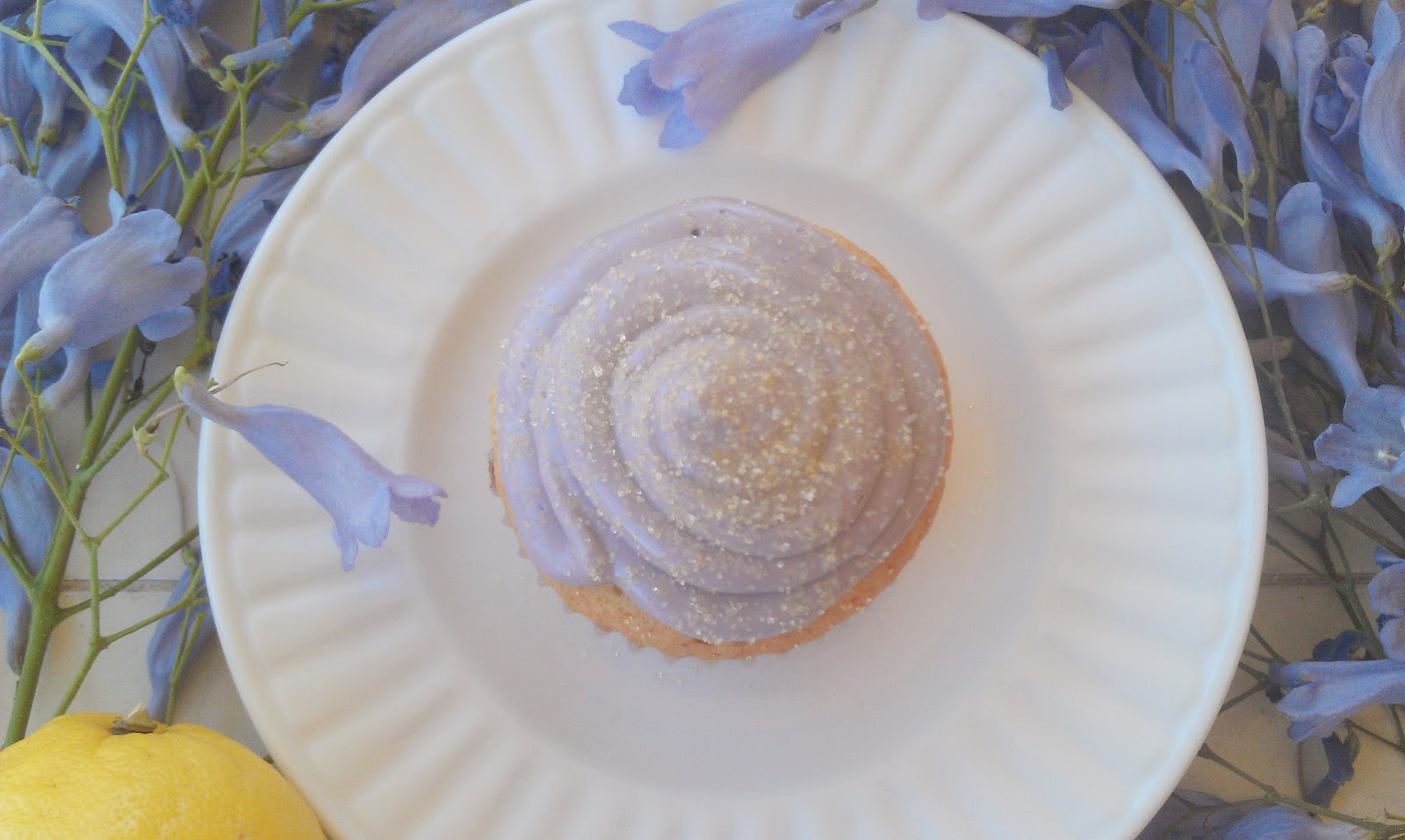 Honey Lemon Lavender Cupcakes