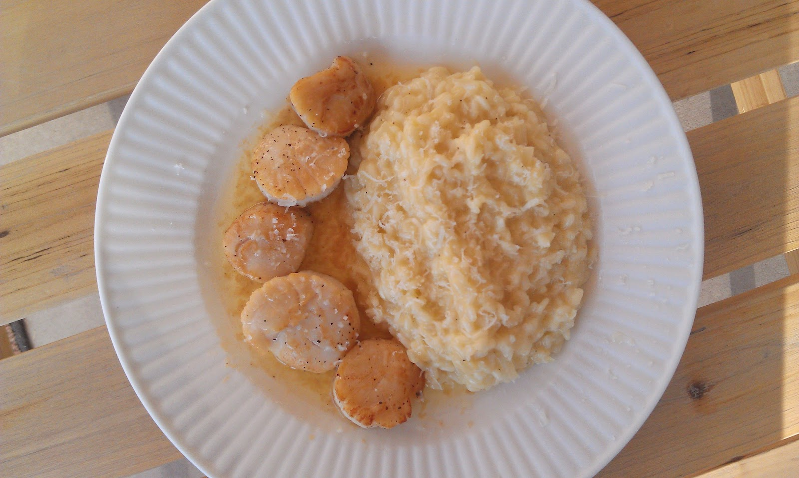 Seared Scallops with Ginger-Lime Beurre Blanc and Milanese Risotto
