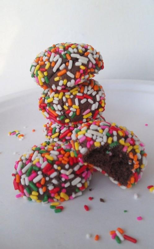 Chocolate Sprinkle Sandwich Cookies 3