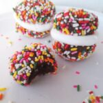 Chocolate Sprinkle Sandwich Cookies