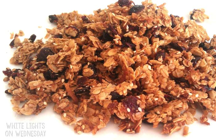 Coconut Cranberry Granola | White Lights on Wednesday