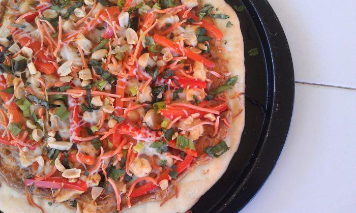 Thai Chcken Pizza 7