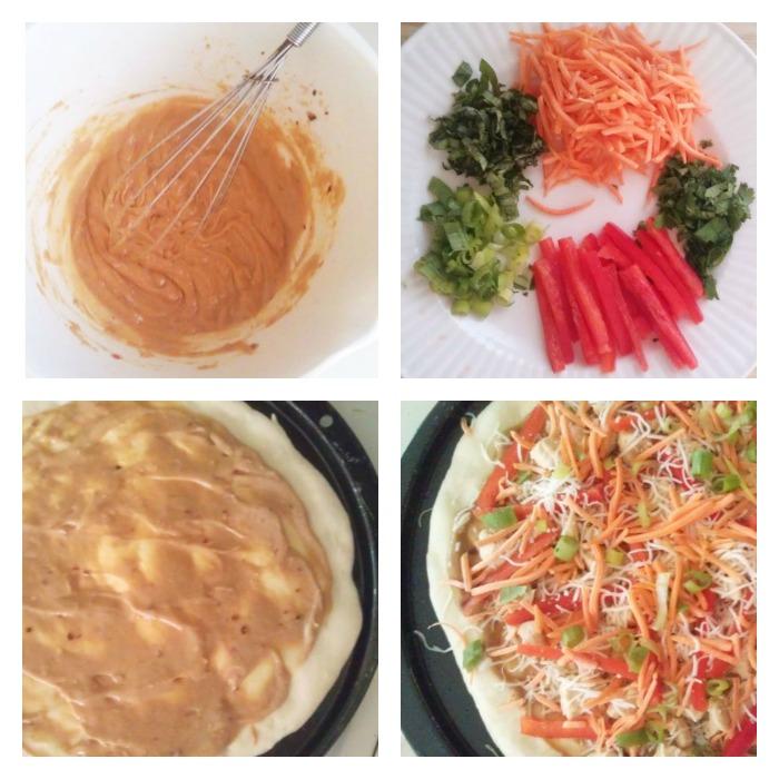 Thai Chicken Pizza 8