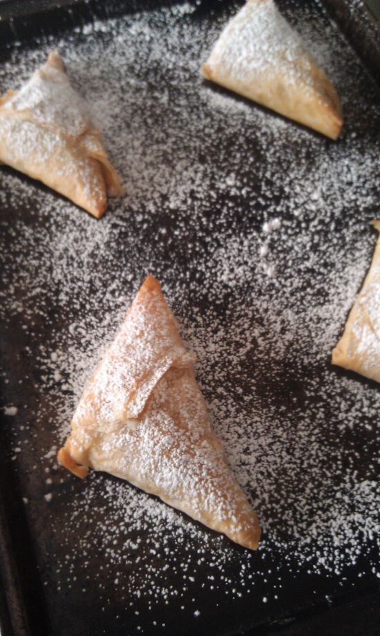 Caramel Apple Pie Triangles 5