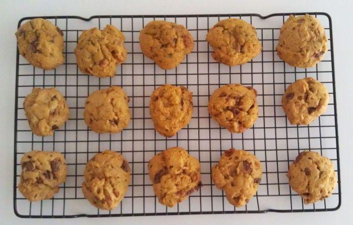 Pumpkin Butterfinger Cookies 1