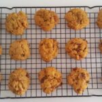 Pumpkin Butterfinger Cookies
