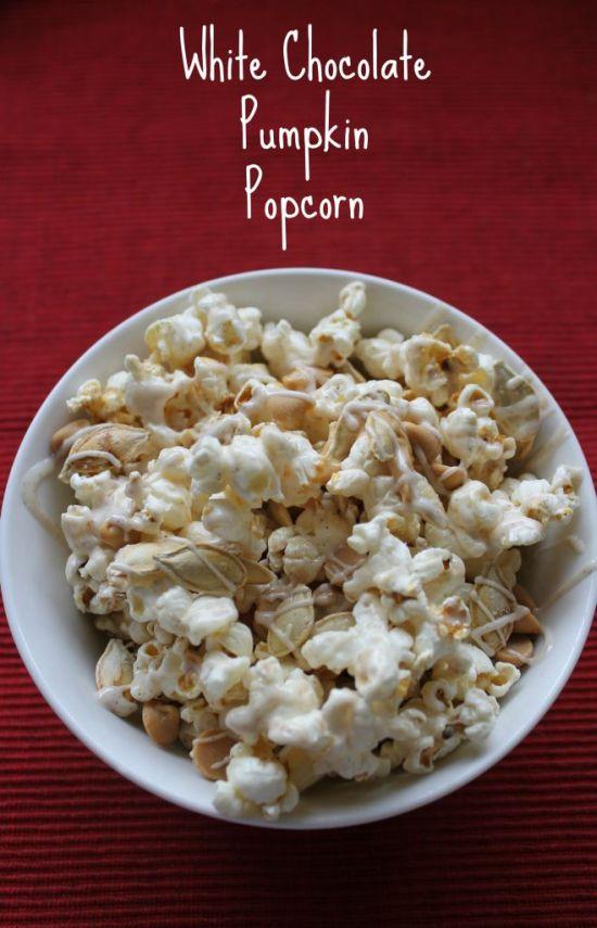 White Chocolate Pumpkin Popcorn 1