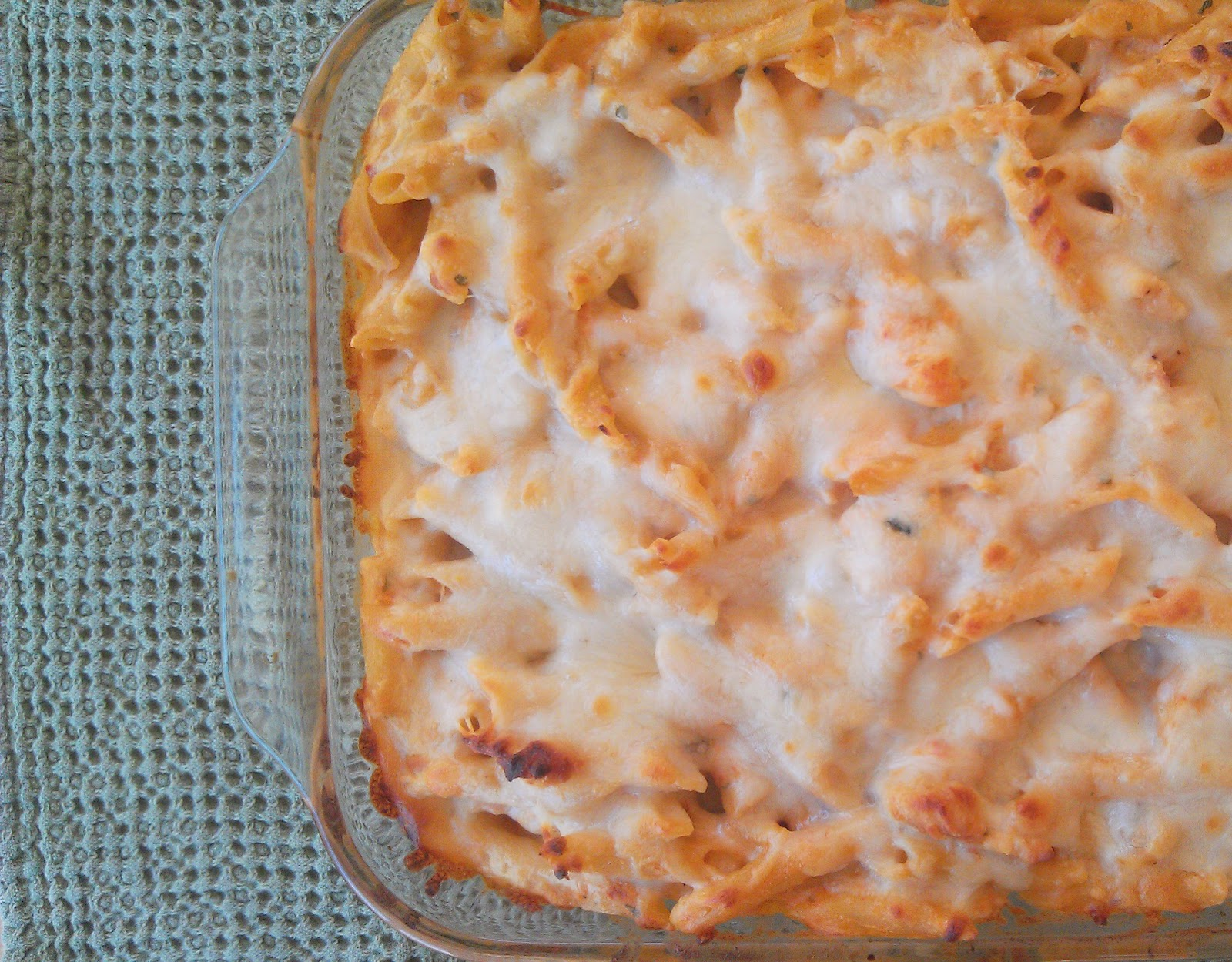 Three-Cheese Chicken Penne Bake