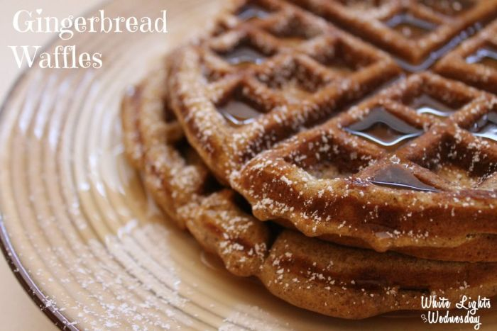 Gingerbread Waffles | White Lights on Wednesday