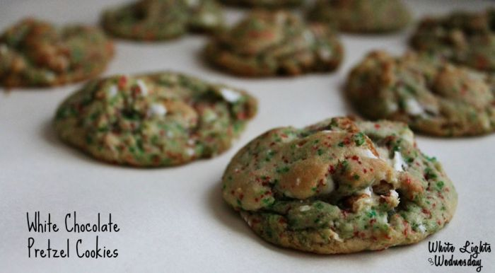 White Chocolate Pretzel Cookies 1