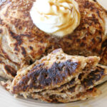 Spiced Wholewheat Oatmeal Pancakes