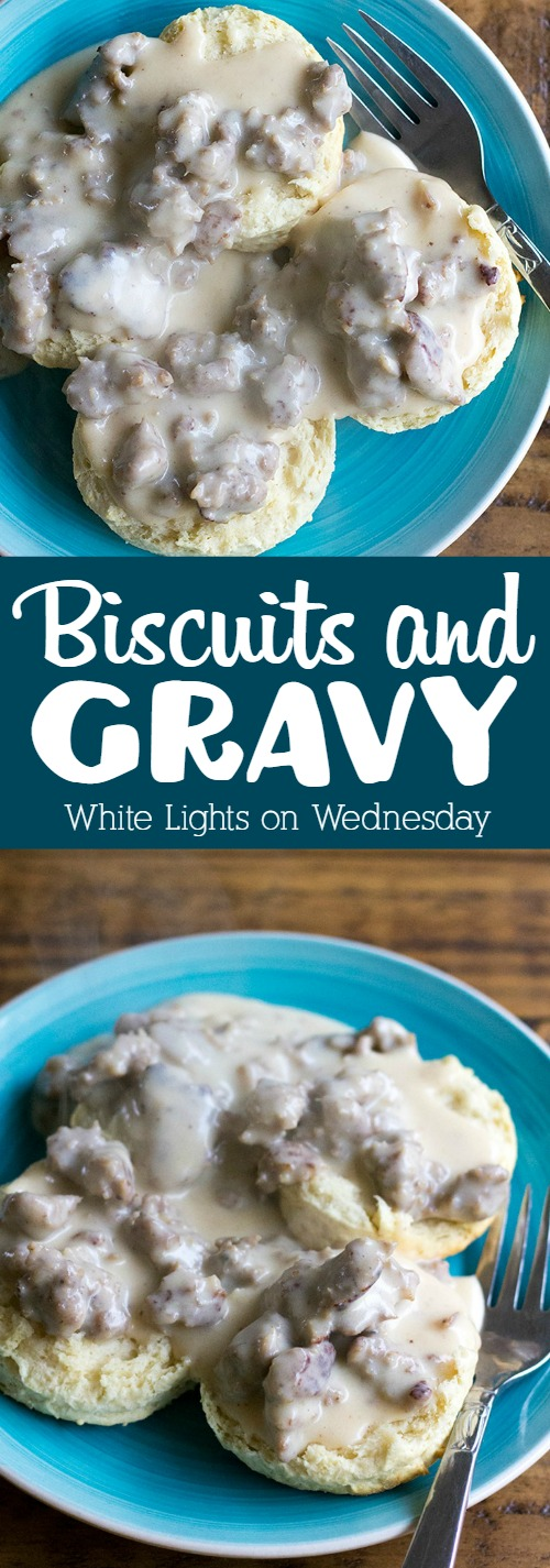 Biscuits and Gravy is a homestyle breakfast everyone loves!