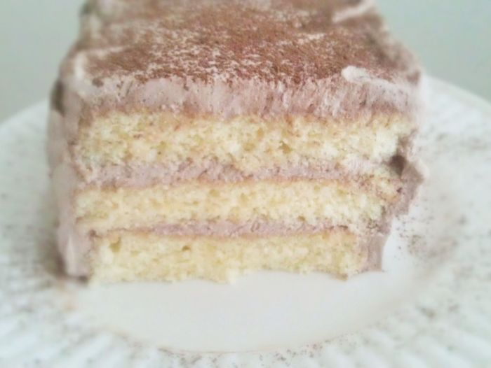 Spiked Chiffon Cake with Chocolate Whipped Cream 3