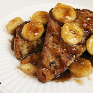 Bananas Bread Foster French Toast