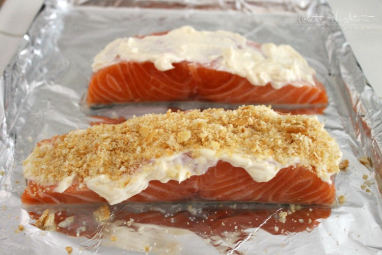 Parmesan Baked Salmon | White Lights on Wednesday