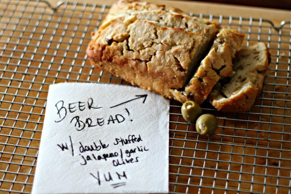 Beer Bread with Olives