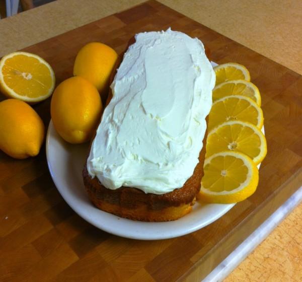 summer lemon blonde cake