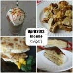 Blogging: Income – April 2013