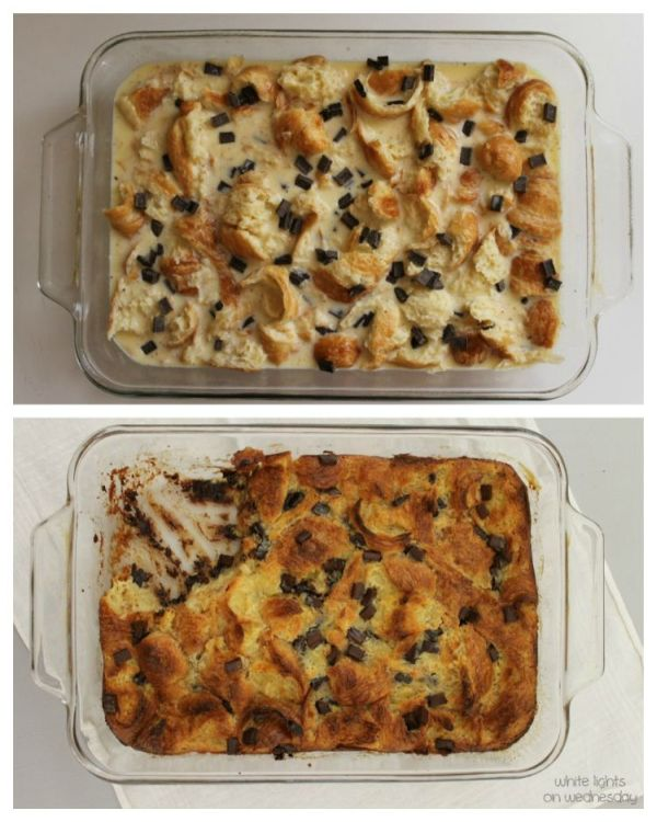 Croissant & Chocolate Bread Pudding