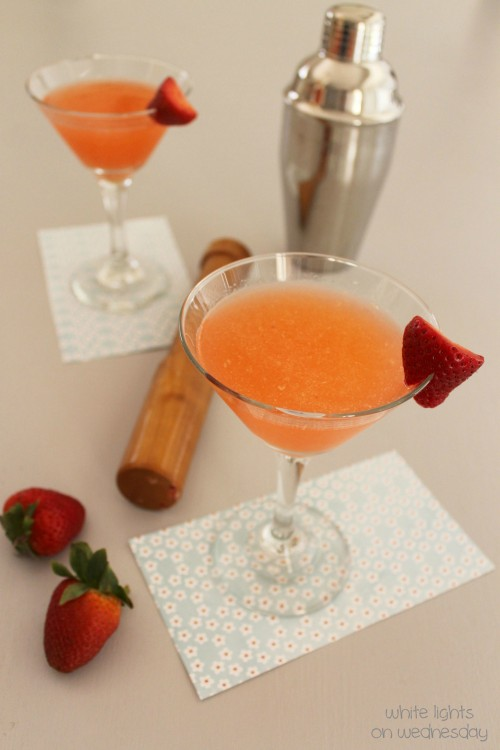 Strawberry Lemongrass Martini 1