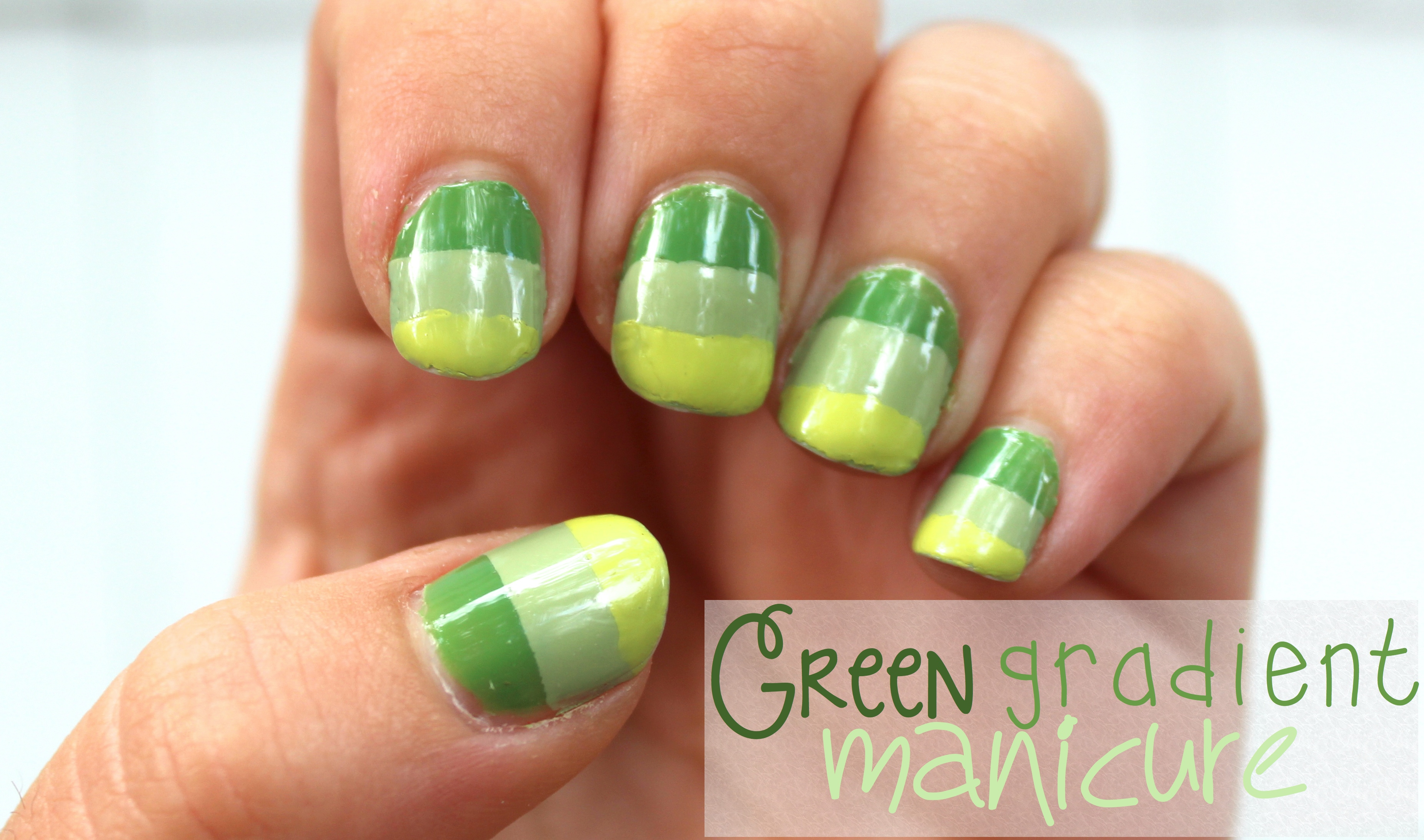 Green Summer Mani