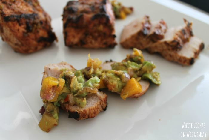 Grilled Pork Tenderloin with Avocado Peach Salsa 3