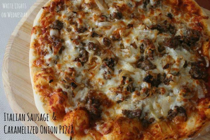Italian Sausage & Caramelized Onion Pizza 3