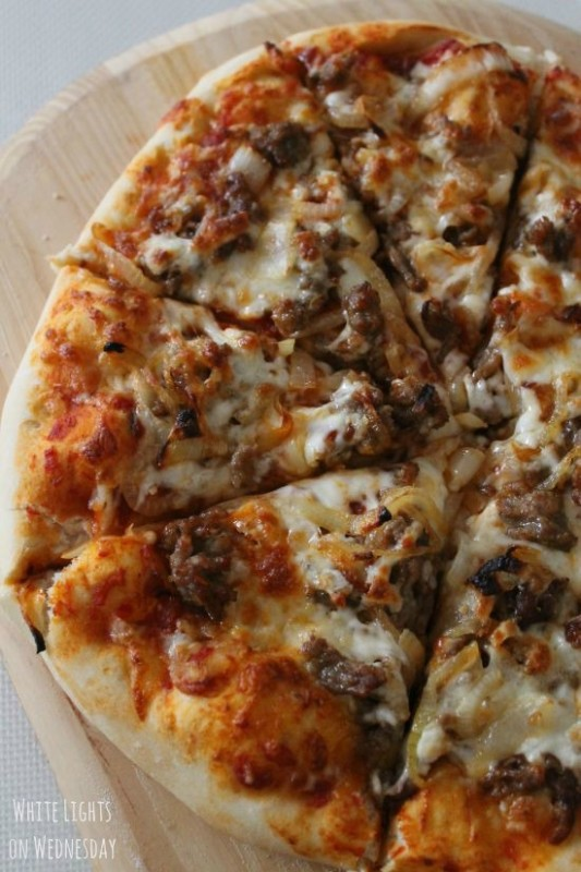 Italian Sausage & Caramelized Onion Pizza 4