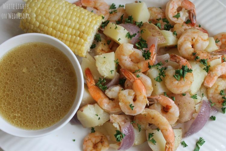Beer & Butter Roasted Shrimp and Potatoes