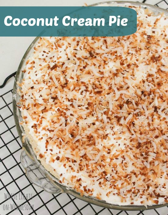 Coconut Cream Pie | White Lights on Wednesday