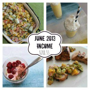 June 2013 Income