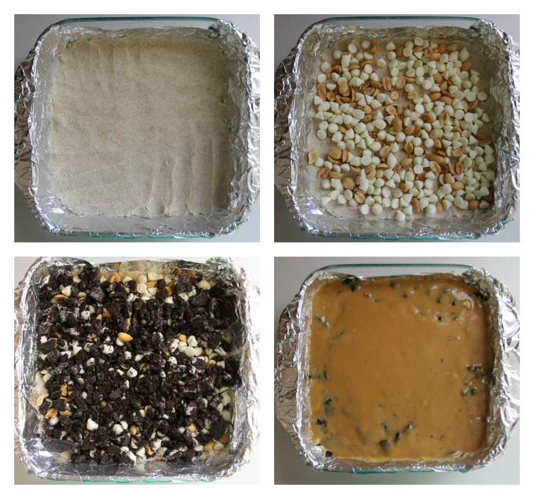 PB Oreo Bars Collage