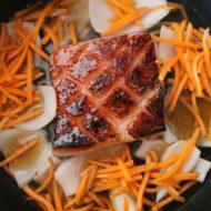 Braised Pork Belly with Polenta