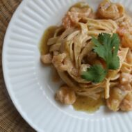 Green Chile Shrimp Pasta